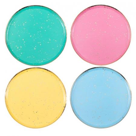 Set 8 Farfurii Multicolor, 24.5 cm [0]