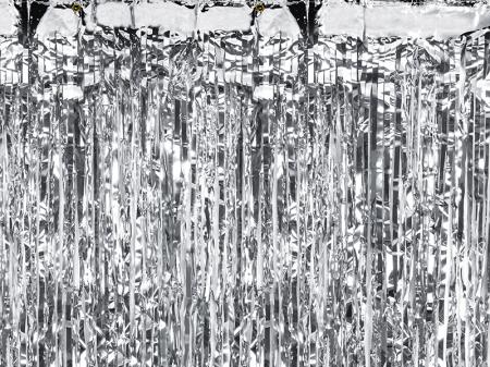 Perdea decorativa, argintiu, 90x250 cm0