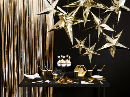 Perdea decorativa, auriu, 90x250 cm [2]