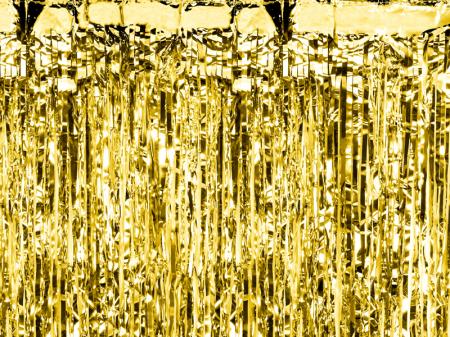 Perdea decorativa, auriu, 90x250 cm0