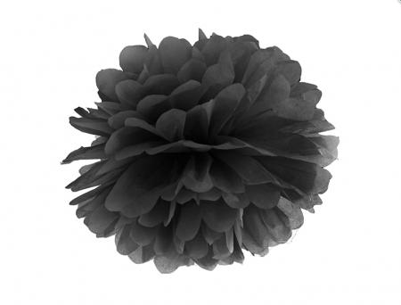 Pom Pom Negru, 35 cm [0]