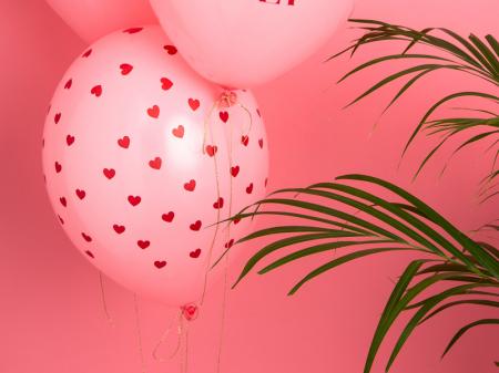 Set 6 Baloane Inima, Pastel - 30 cm1