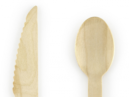 Set 18 Tacamuri Lemn, Negru - 16 cm1