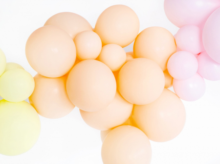 Set 10 Baloane Portocaliu Pal Pastel - 30 cm [2]
