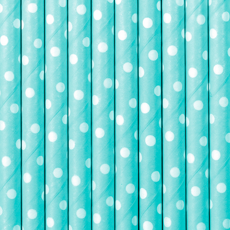 Set 10 Paie, Bleu cu Buline1