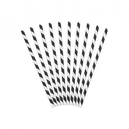 Set 10 Paie Spirala, Negru0