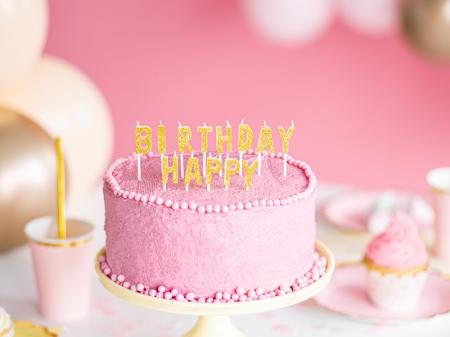 Set 13 Lumanari Happy Birthday, auriu, 2.5 cm1