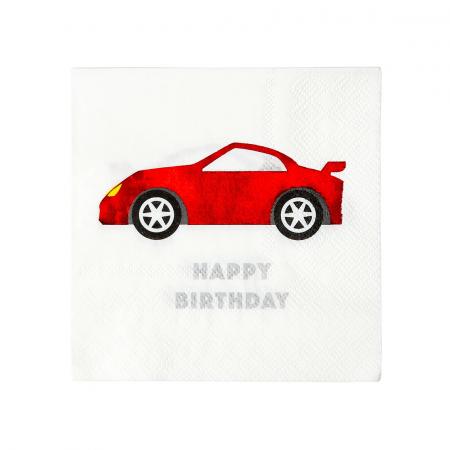 Set 16 Servetele Happy Birthday Party Racer0
