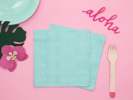 Set 20 Servetele Albastre Aloha [5]