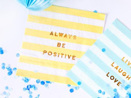 Set 20 Servetele Always be positive [2]