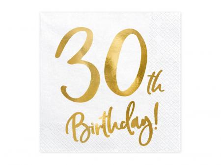 Set 20 Servetele aniversare 30th Birthday0