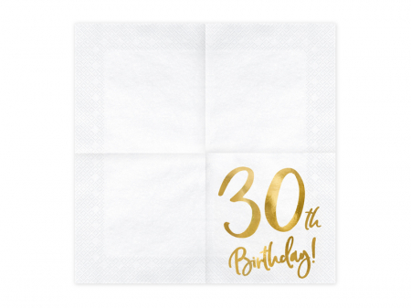 Set 20 Servetele aniversare 30th Birthday1