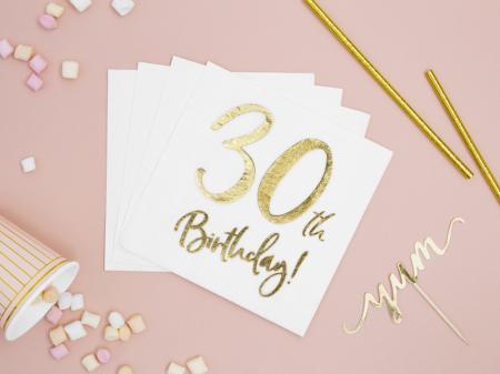 Set 20 Servetele aniversare 30th Birthday2