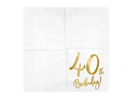Set 20 Servetele aniversare 40th Birthday [1]
