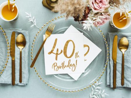 Set 20 Servetele aniversare 40th Birthday [4]
