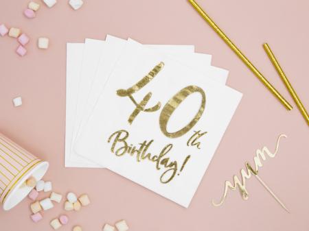 Set 20 Servetele aniversare 40th Birthday [2]