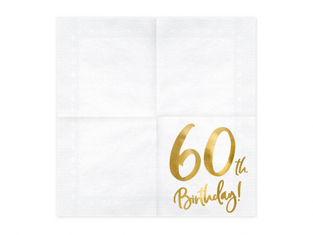 Set 20 Servetele aniversare 60th Birthday [1]