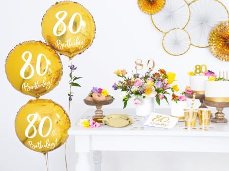 Set 20 Servetele aniversare 80th Birthday3