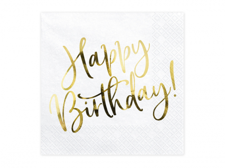 Set 20 Servetele Happy Birthday [0]