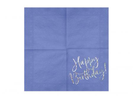 Set 20 Servetele Happy Birthday1
