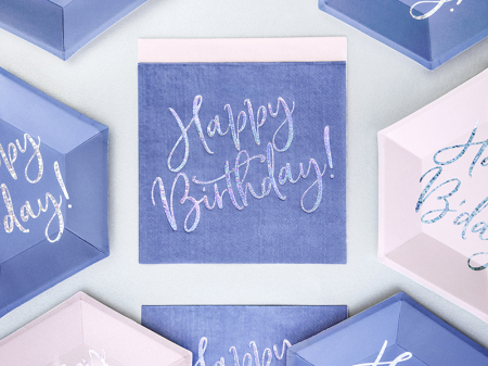 Set 20 Servetele Happy Birthday2