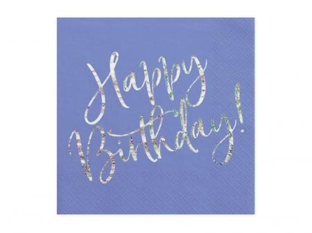 Set 20 Servetele Happy Birthday0