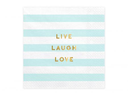Set 20 Servetele Live Laugh Love0