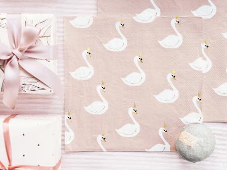 Set 20 Servetele Lovely Swan2