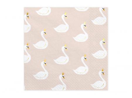 Set 20 Servetele Lovely Swan0
