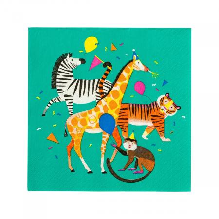 Set 20 Servetele Party Animals Safari0