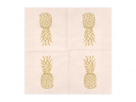 Set 20 Servetele Roz Ananas [1]