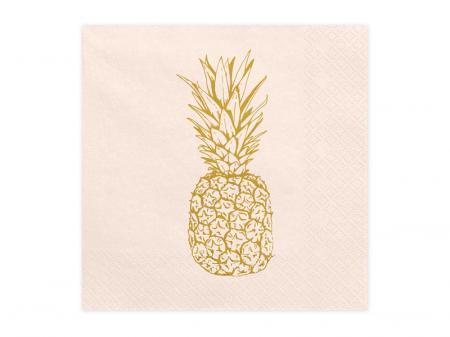 Set 20 Servetele Roz Ananas [0]