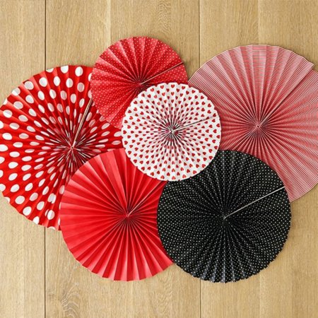 Set 3 Rozete decorative, rosu [2]