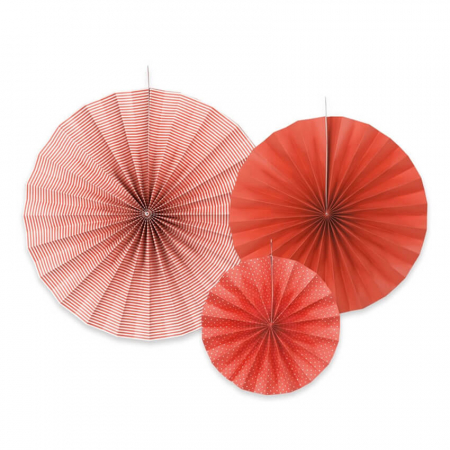 Set 3 Rozete decorative, rosu [0]