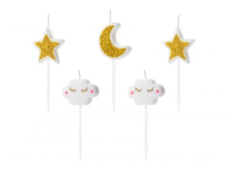 Set 5 Lumanari Little Star, 2-3 cm0