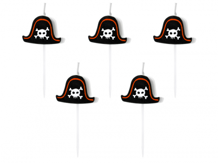 Set 5 Lumanari Palarie Pirat0