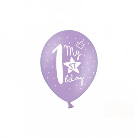 Set 6 Baloane Aniversare 1 an - 30 cm1