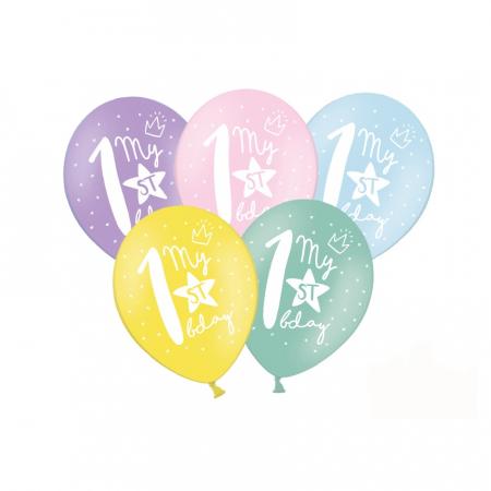 Set 6 Baloane Aniversare 1 an - 30 cm0