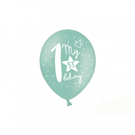 Set 6 Baloane Aniversare 1 an - 30 cm5
