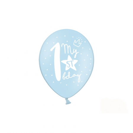 Set 6 Baloane Aniversare 1 an - 30 cm2