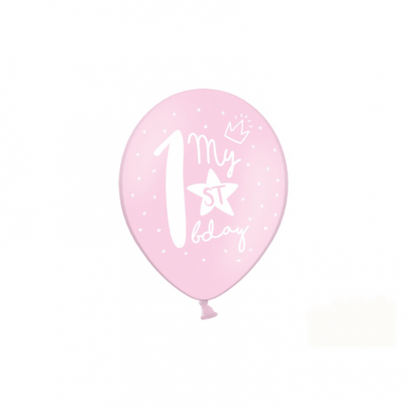 Set 6 Baloane Aniversare 1 an - 30 cm3