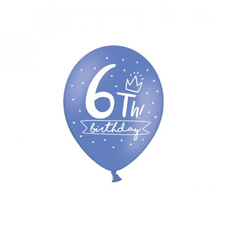 Set 6 Baloane Aniversare 10 ani - 30 cm8