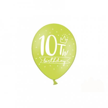 Set 6 Baloane Aniversare 10 ani - 30 cm2