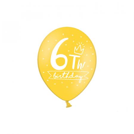 Set 6 Baloane Aniversare 10 ani - 30 cm11