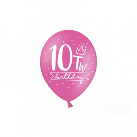 Set 6 Baloane Aniversare 10 ani - 30 cm4