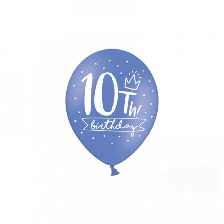 Set 6 Baloane Aniversare 10 ani - 30 cm1