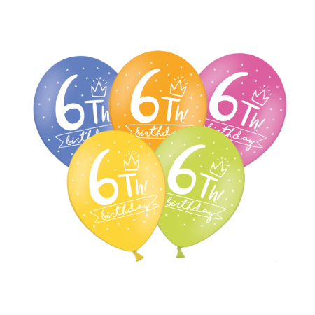 Set 6 Baloane Aniversare 10 ani - 30 cm7