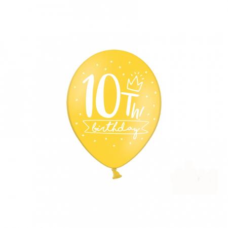 Set 6 Baloane Aniversare 10 ani - 30 cm3