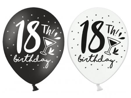 Set 6 Baloane Aniversare, 18 Ani, Mix - 30 cm [1]