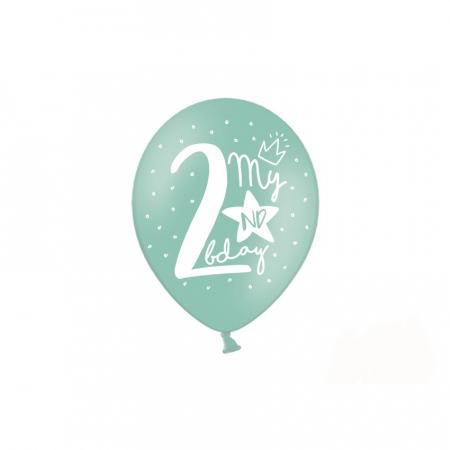 Set 6 Baloane Aniversare 2 ani - 30 cm1